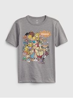 T-shirt recyclé à imprimé de personnages Nickelodeon | GapKids