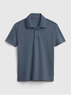 Kids Performance Pique Polo Shirt