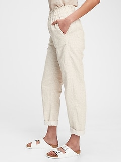 High Rise Paperbag Pull-On Pants