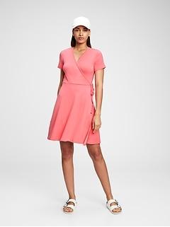 Modern Wrap-Front Dress