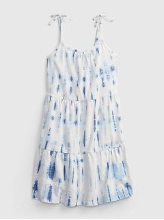 Kids Tie-Dye Tiered Dress