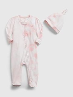 Tenue une-pièce Premiers essentiels 100% coton biologique teint par nœuds pour Bébé