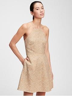 Halter-Neck Mini Dress