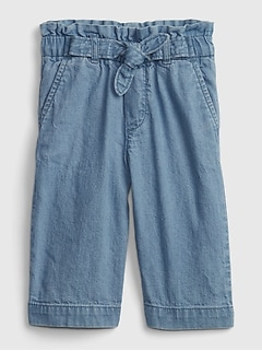 Toddler Wide-Leg Crop Jeans with Washwell™