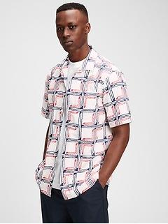 Poplin Print Shirt