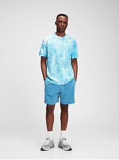T-shirt en coton biologique teint par nœuds