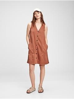Sleeveless V-Neck A-Line Dress