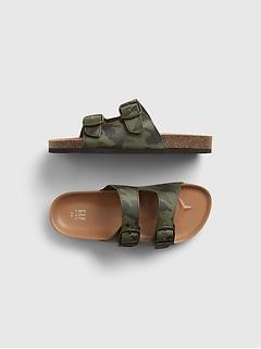 Kids Camo Print Sandals
