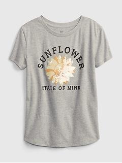 Kids 100% Organic Cotton Interactive Graphic T-Shirt