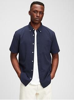 Seersucker Button-Front Shirt