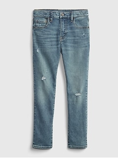 Kids Slim Taper Jeans with Washwell™