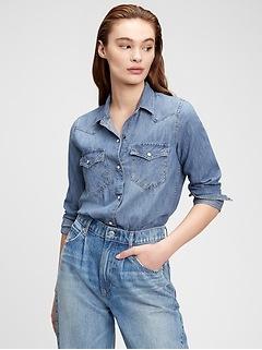 Denim Western Shirt with Washwell™