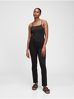 Mid Rise Classic Straight Jeans With Washwell™
