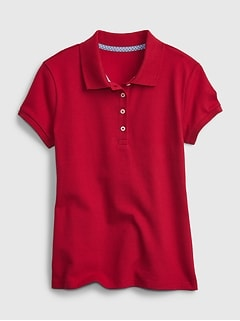 Polo d'uniforme 100% coton biologique pour Enfant