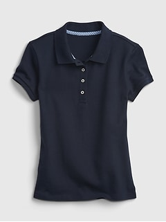 Kids Organic Cotton Uniform Polo Shirt