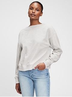 Reversible Twist Crewneck Sweatshirt