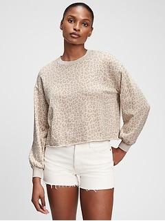 Vintage Soft Raw Edge Crewneck Sweatshirt