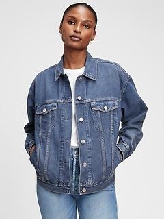 Oversized Denim Jacket With Washwell™