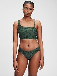 Recycled One-Shoulder Bikini Top