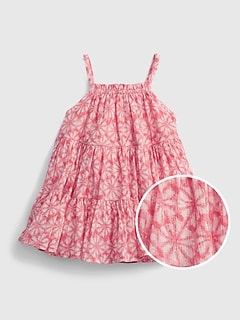 Baby Gauze Tiered Floral Dress