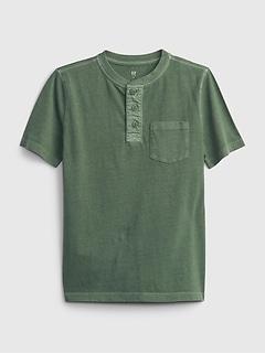 T-Shirt henley vintage pour Enfant