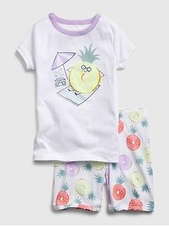 Kids 100% Organic Cotton Pineapple Graphic PJ Set