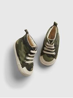 Baby Camo Print High-Top Sneakers