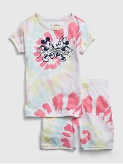 GapKids | Disney Mickey and Minnie Mouse 100% Organic Cotton PJ Set