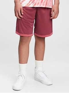 Teen 100% Recycled Polyester Reversible Mesh Pull-On Shorts