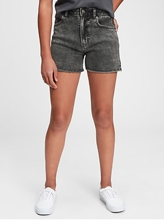 Teen Sky High-Rise Denim Shorts with Stretch