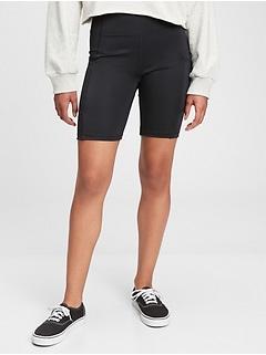 GapFit Teen Recycled Polyester High-Rise Biker Shorts