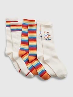 Kids Pride Tube Socks (3-Pack)