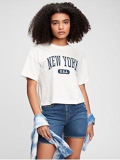 Teen Graphic Boxy Crop T-Shirt