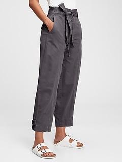 Sky High Paperbag Khaki Pants