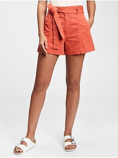 Sky High Rise Paperbag Shorts