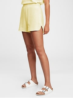 High Rise Towel Terry Shorts