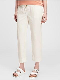 Maternity Straight Cropped Pants