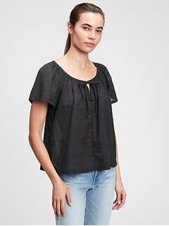 Flutter Tie-Front T-Shirt