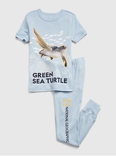 GapKids | National Geographic Sea Turtle 100% Organic Cotton PJ Set