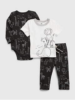 Baby 100% Organic Cotton Mix and Match 3-Piece Outfit Set