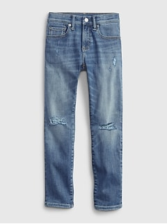 Kids Distressed Skinny Jeans with Washwell™