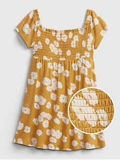 Toddler Print Smocked Dress