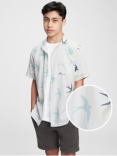 Teen Organic Cotton Resort Shirt