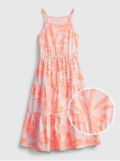 Kids Print Midi Dress