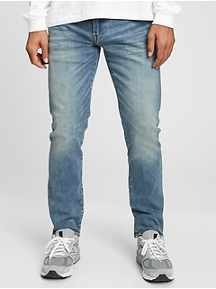 Soft Wear Slim Straight Jeans With Washwell™
