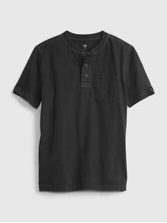 Kids Vintage Henley T-Shirt