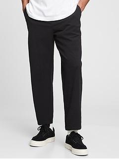 Relaxed Seersucker Taper E-Waist Pants with GapFlex