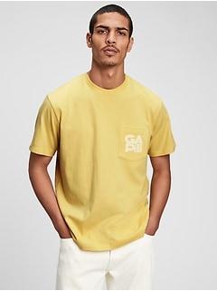 100% Organic Cotton Gap Logo Pocket T-Shirt