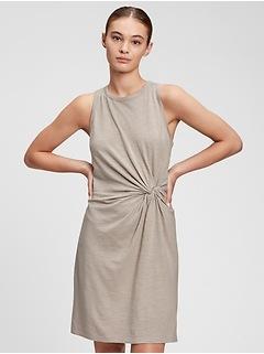Sleeveless Knot-Waist Dress