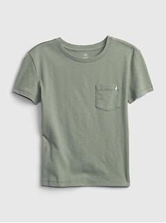 Kids 100% Organic Cotton Pocket T-Shirt